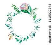 greeting card floral frame... | Shutterstock . vector #1115022398