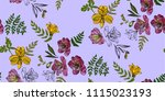 floral seamless pattern with... | Shutterstock .eps vector #1115023193