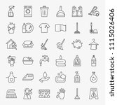 cleaning services line icons... | Shutterstock .eps vector #1115026406