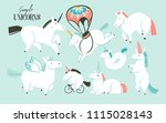 hand drawn vector abstract... | Shutterstock .eps vector #1115028143