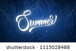 summer. exotic background with... | Shutterstock .eps vector #1115028488