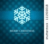 christmas background and... | Shutterstock .eps vector #111503018
