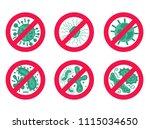 antibacterial and antiviral... | Shutterstock .eps vector #1115034650