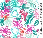 creative hand drawn exotic... | Shutterstock .eps vector #1115039513