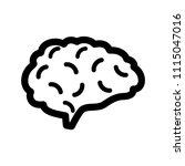 brain icon flat. | Shutterstock .eps vector #1115047016