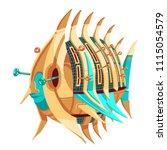 illustration of a robot fish... | Shutterstock .eps vector #1115054579
