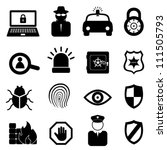 security icon set on white... | Shutterstock .eps vector #111505793