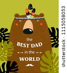 """vector poster with a bear """"the... 