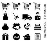 shopping icon set on white... | Shutterstock .eps vector #111505838