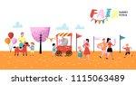summer fun fair poster  banner  ... | Shutterstock .eps vector #1115063489