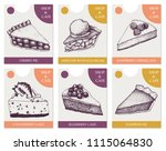 vector collection of bakery or... | Shutterstock .eps vector #1115064830