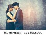 concept of love relationship ... | Shutterstock . vector #1115065070