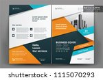 front and back cover of a... | Shutterstock .eps vector #1115070293