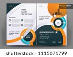 front and back cover of a... | Shutterstock .eps vector #1115071799