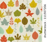 autumn leaves pattern  ... | Shutterstock .eps vector #111507206