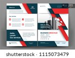 front and back cover of a...   Shutterstock .eps vector #1115073479