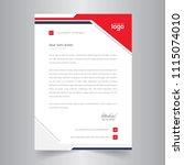 business style letter head... | Shutterstock .eps vector #1115074010