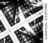 abstract grunge grid polka dot... | Shutterstock .eps vector #1115074280