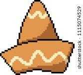vector pixel art strange hat... | Shutterstock .eps vector #1115074529