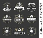 camping logos templates vector... | Shutterstock .eps vector #1115074979