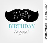 happy birthday card with... | Shutterstock .eps vector #1115078864