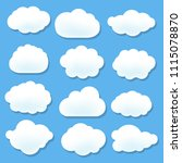 cloud icons with blue... | Shutterstock .eps vector #1115078870