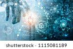 futuristic technology concept  ... | Shutterstock . vector #1115081189