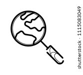 global search vector icon  | Shutterstock .eps vector #1115083049