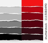 torn colorful paper big set ... | Shutterstock .eps vector #1115083490