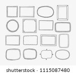hand drawn frames and labels... | Shutterstock .eps vector #1115087480