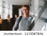 portrait of teenage male... | Shutterstock . vector #1115087846