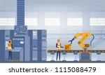 industry 4.0 smart factory... | Shutterstock .eps vector #1115088479