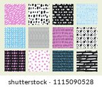 hand drawn textures made with... | Shutterstock .eps vector #1115090528