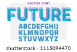vector font made of polygonal... | Shutterstock .eps vector #1115094470