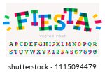 funny vector font made of... | Shutterstock .eps vector #1115094479