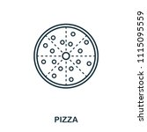 simple outline pizza icon....