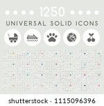 set of 1250 elegant universal...