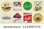 vintage american badge.... | Shutterstock .eps vector #1115097173