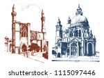 historical old building. facade ...   Shutterstock .eps vector #1115097446