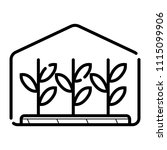 greenhouse icon vector | Shutterstock .eps vector #1115099906