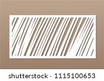 decorative card for cutting.... | Shutterstock .eps vector #1115100653