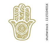 hamsa hand  ancient middle... | Shutterstock .eps vector #1115104016