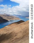 holy lake in tibet from simi la ... | Shutterstock . vector #111510410