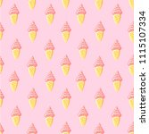 seamless pattern sweet ice... | Shutterstock .eps vector #1115107334