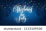 christmas in july. tropical... | Shutterstock .eps vector #1115109530