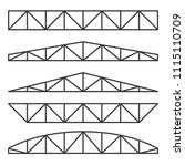 roof metal trusses... | Shutterstock .eps vector #1115110709