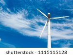 wind generator of electricity... | Shutterstock . vector #1115115128