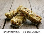 healthy energy snack granola... | Shutterstock . vector #1115120024