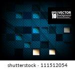 eps10 abstract vector 3d  blue...   Shutterstock .eps vector #111512054