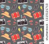 photo camera hipster sticker...   Shutterstock .eps vector #1115121713